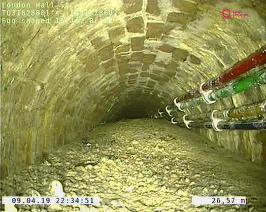 A mass of concrete, called a 'concreteberg,' was discovered inside a sewer in London.