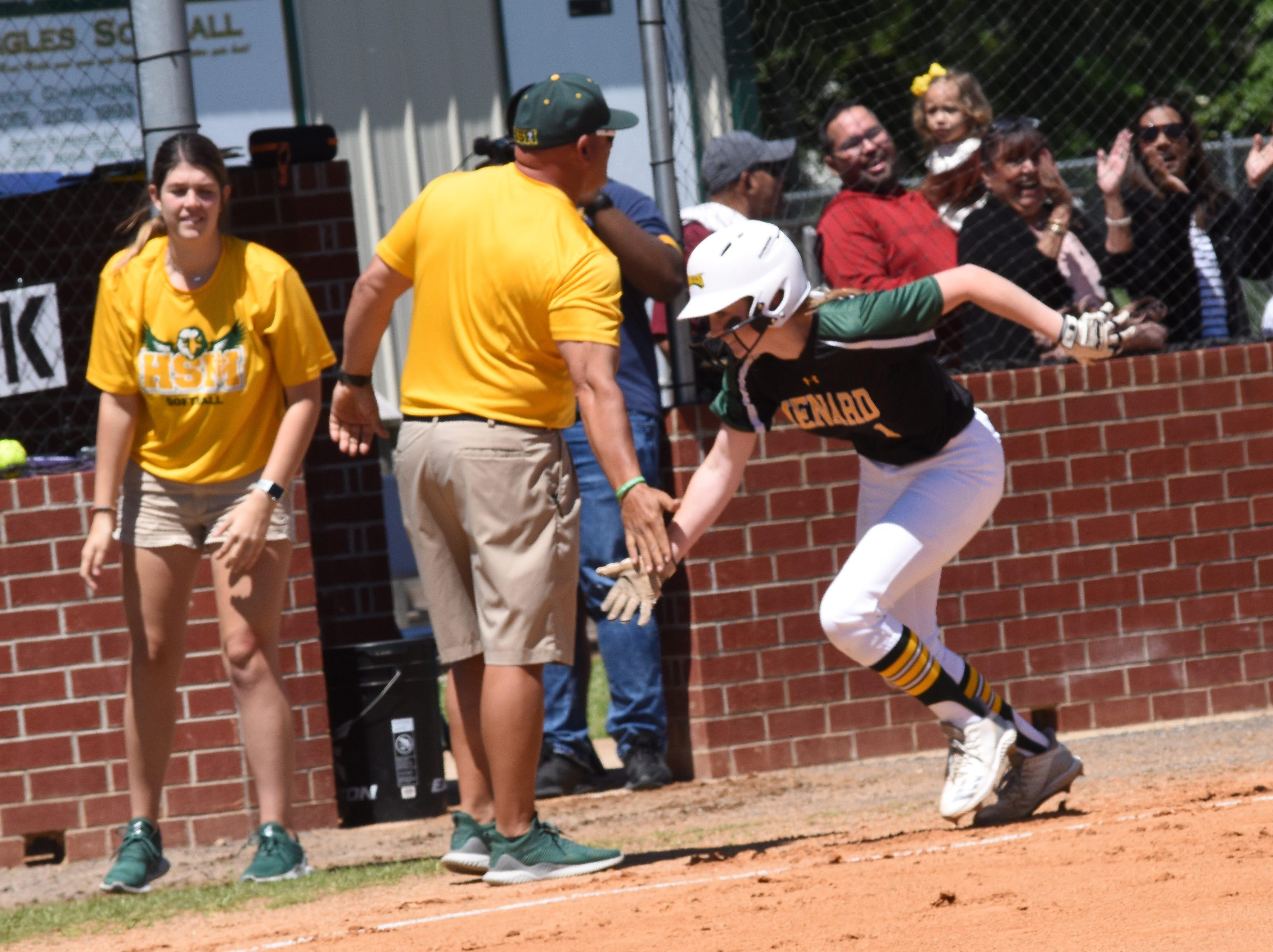 Holy Savior Menard High School vs. Northlake Christian High School Saturday, April 20, 2019 in the 2019 Allstate Sugar Bowl/LHSAA Softball State Tournament  Division III quarterfinals. Menard won 4-2.