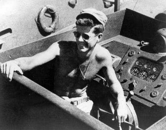 PC101 Lt. (jg) John F. Kennedy aboard the PT-109.