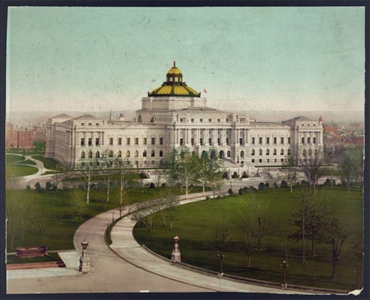 The Library of Congress, Washington, D.C., c. 1900.