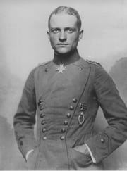"""Baron Manfred von Richthofen was the leader of Germany's Flying Circus and airplane ace known as the """"Red Baron"""" during World War I."""