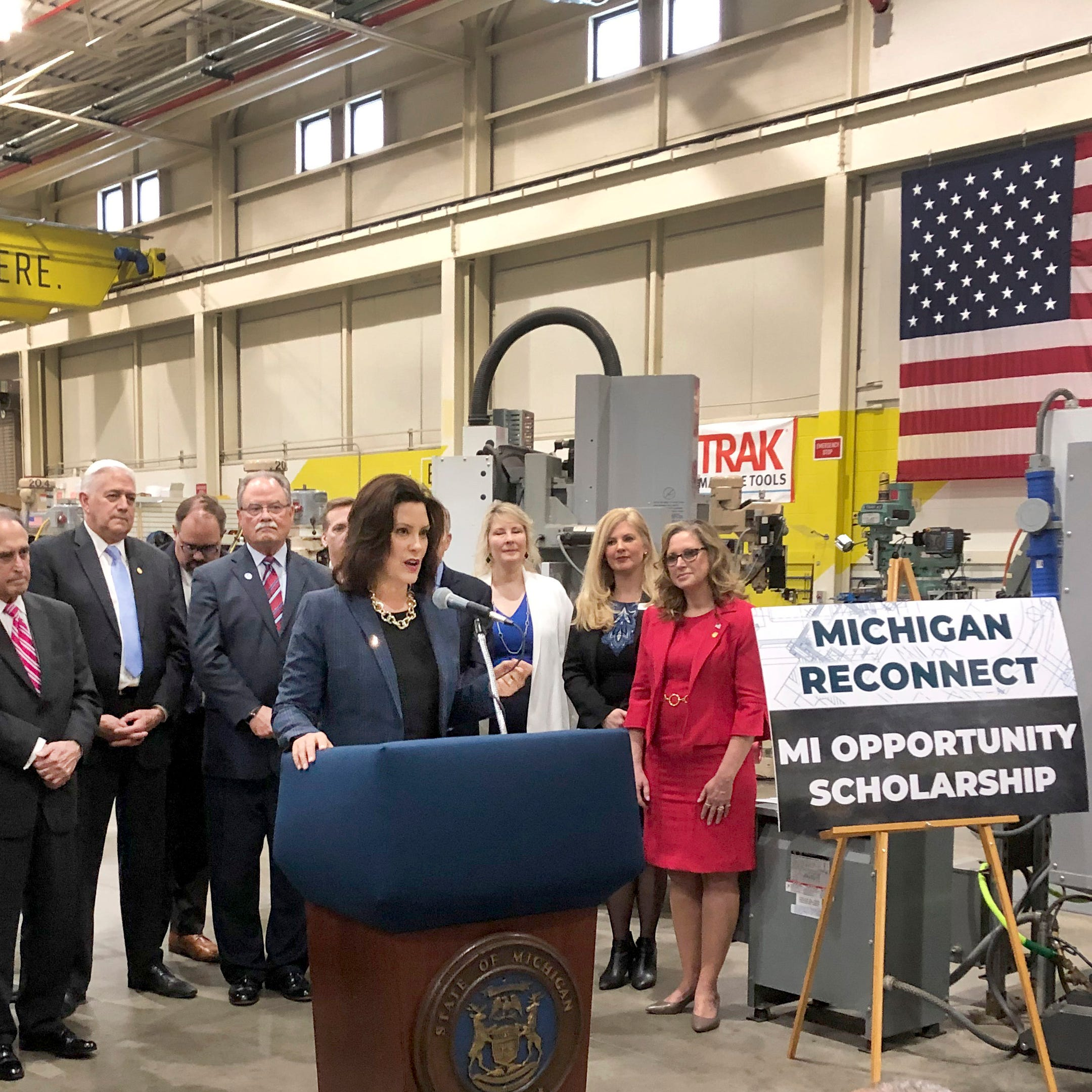 Whitmer nets GOP, business support for tuition-free programs