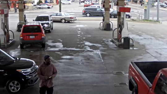 Detroit Police are looking for the shooter that assaulted and shot a 23-year-old man at a gas station Friday.