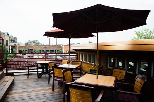 The rooftop area at Motor City Brewing Works in Detroit.