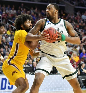 Center Nick Ward (44) is entering the NBA draft, and will not return to Michigan State.