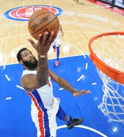 Andre Drummond and the Pistons will look to snap a 12-game losing streak in the playoffs on Saturday.