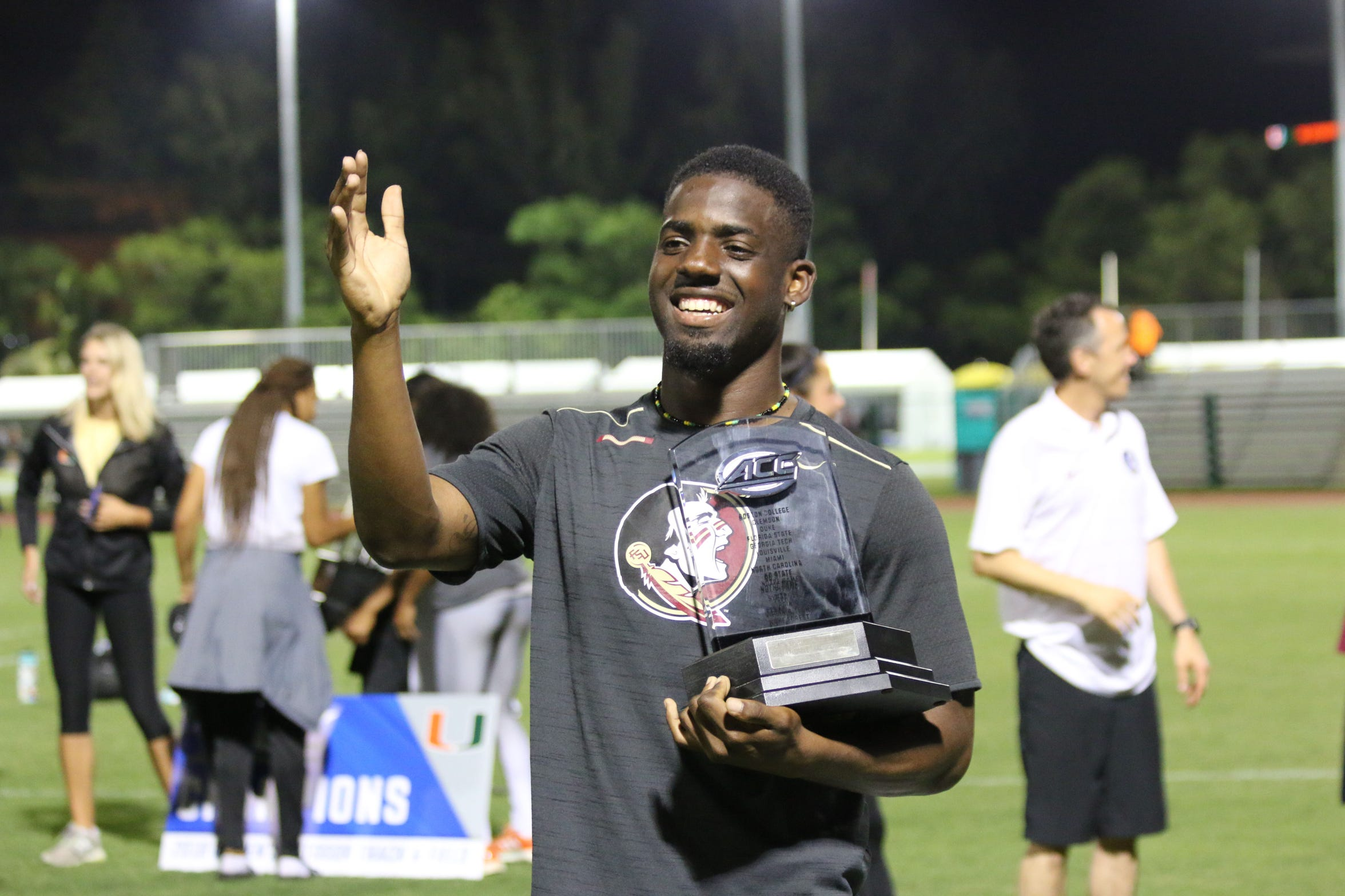 In 2018, Andre Ewers' MVP performance at the ACC Outdoor Track & Field Championship earned him a place among the Seminoles all-time greats.