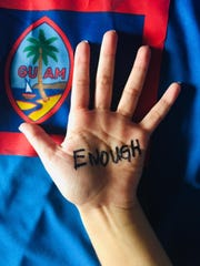 "The Guam Family Justice Center Alliance will be demonstrating on Wednesday, April 24. The group is calling on people to band together, write ""enough"" on their palms, and raise their hands in an effort to raise awareness about the lack of action to resolve recent child sex abuse cases."
