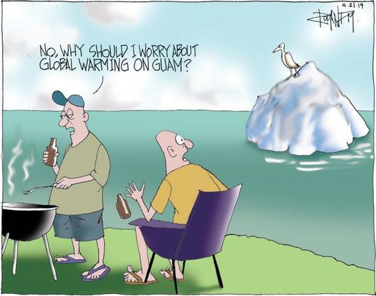 Sunday cartoon on sustainability.