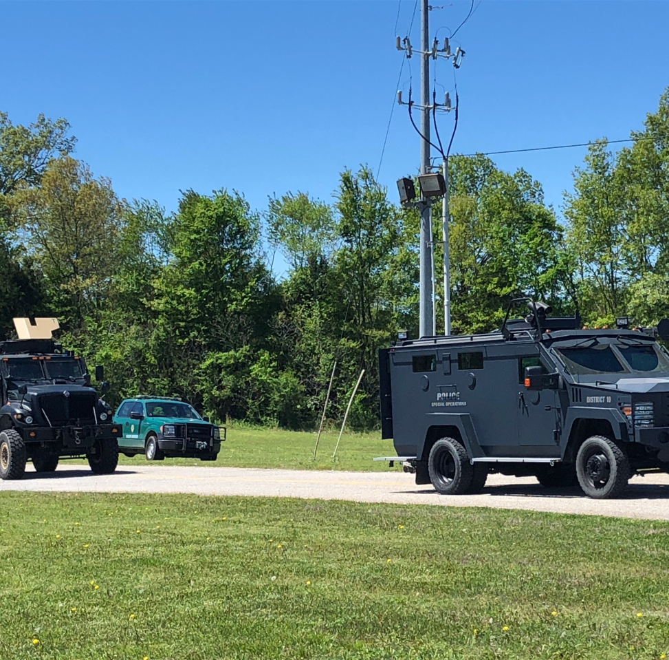 Multiple agencies respond to barricaded armed suspect at Friendship residence