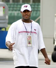 Reggie Cobb in 2003, when he was a scout for the Buccaneers.