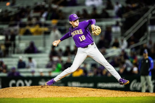 LSU pitcher Cole Henry.