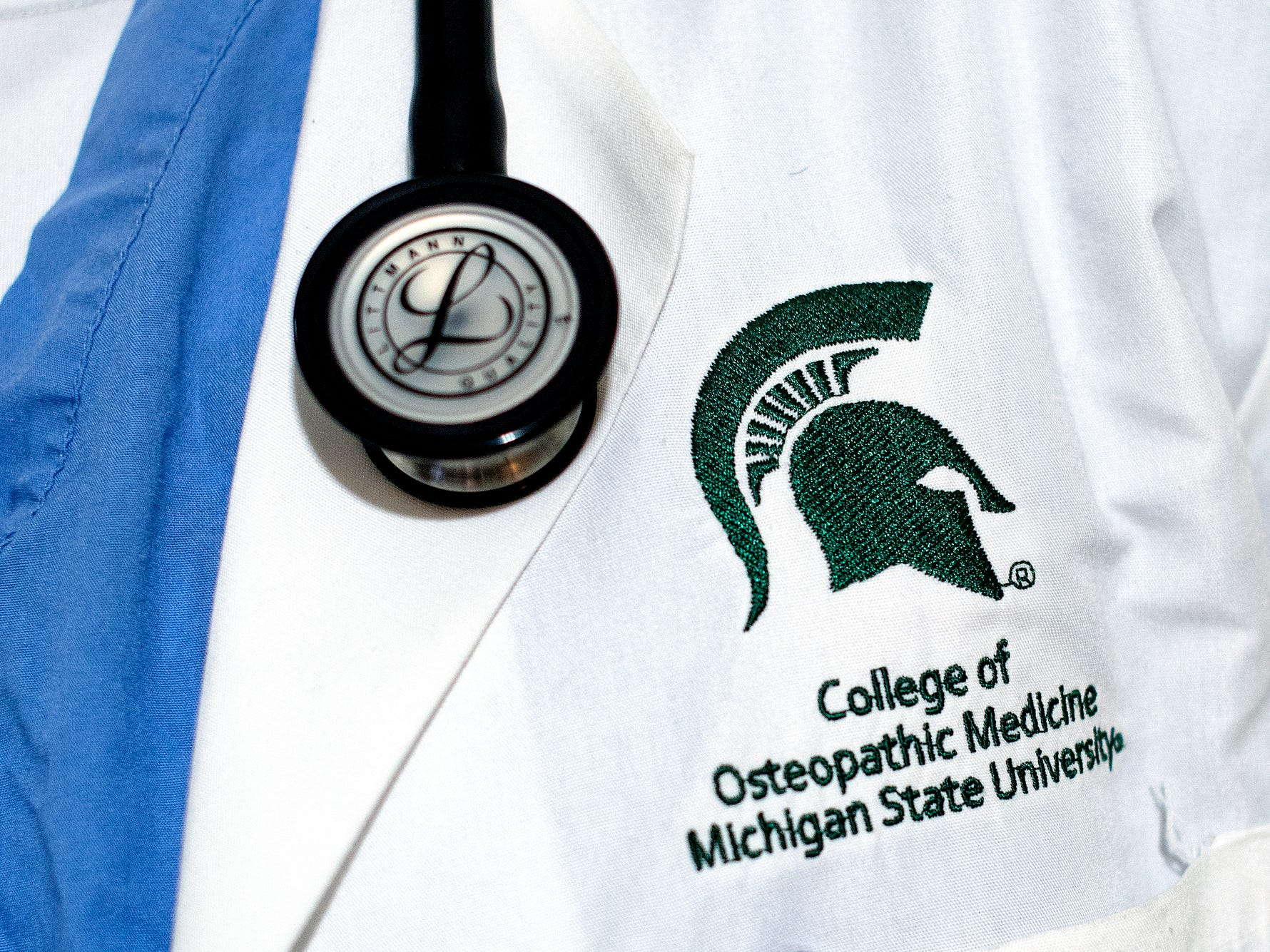 Robert Ray Jr., photographed on Friday, April 19, 2019, will be an emergency medicine resident in Allentown, Pennsylvania, after graduating from the Michigan State University College of Osteopathic Medicine in May.