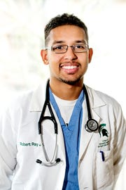 Robert Ray Jr., photographed on Friday, April 19, 2019, will be an emergency medicine resident in Allentown, Pennsylvania, after graduating from the College of Osteopathic Medicine in May.