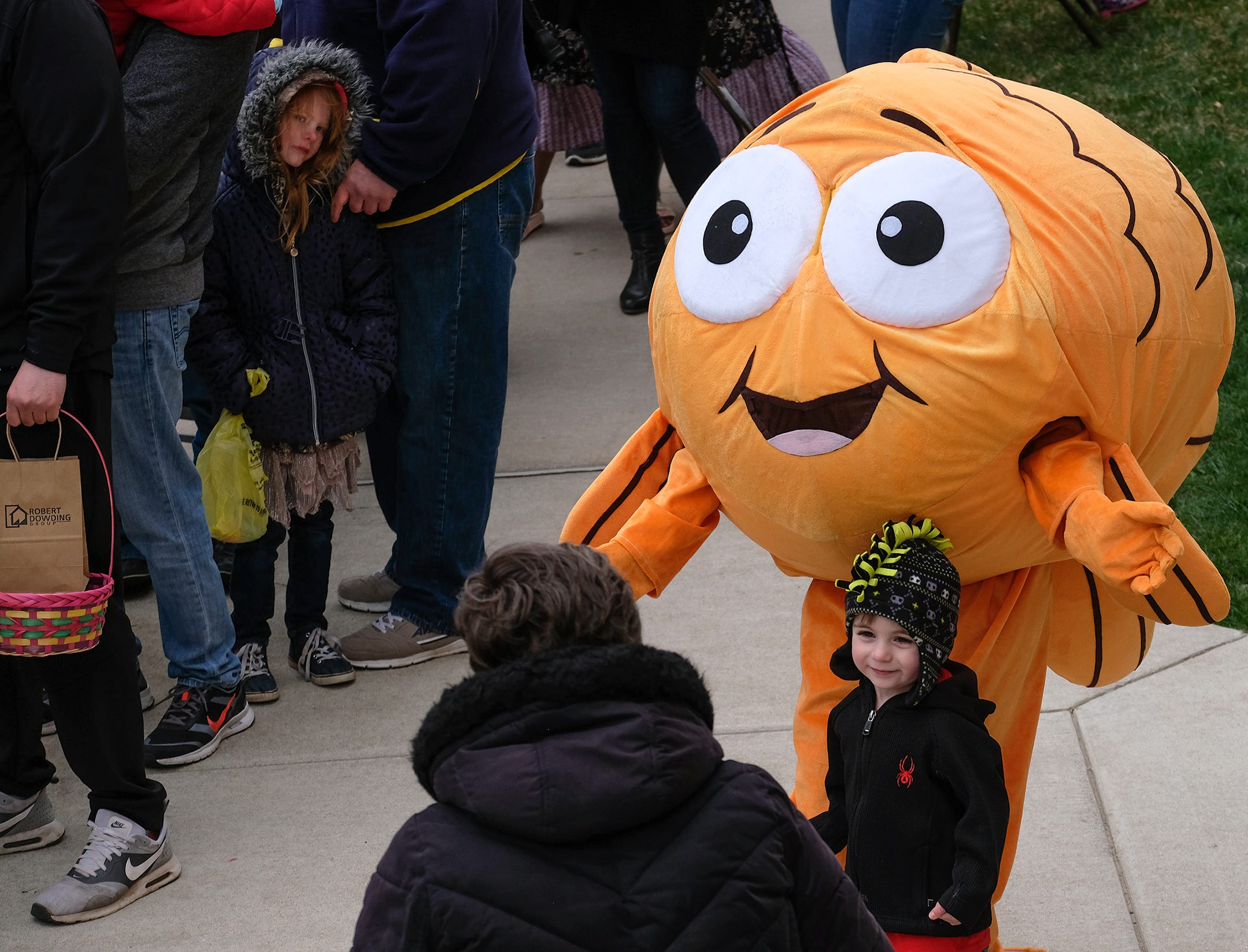 This mascot was a hit with the little ones at the annual Lansing Jaycees Easter Egg Hunt at the Capitol Saturday, April 20, 2019.