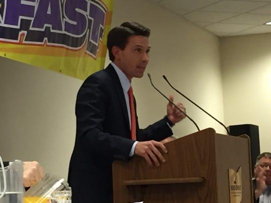 Ashland Mayor Matt Miller was the guest speaker at Saturday's Resurrection Breakfast.