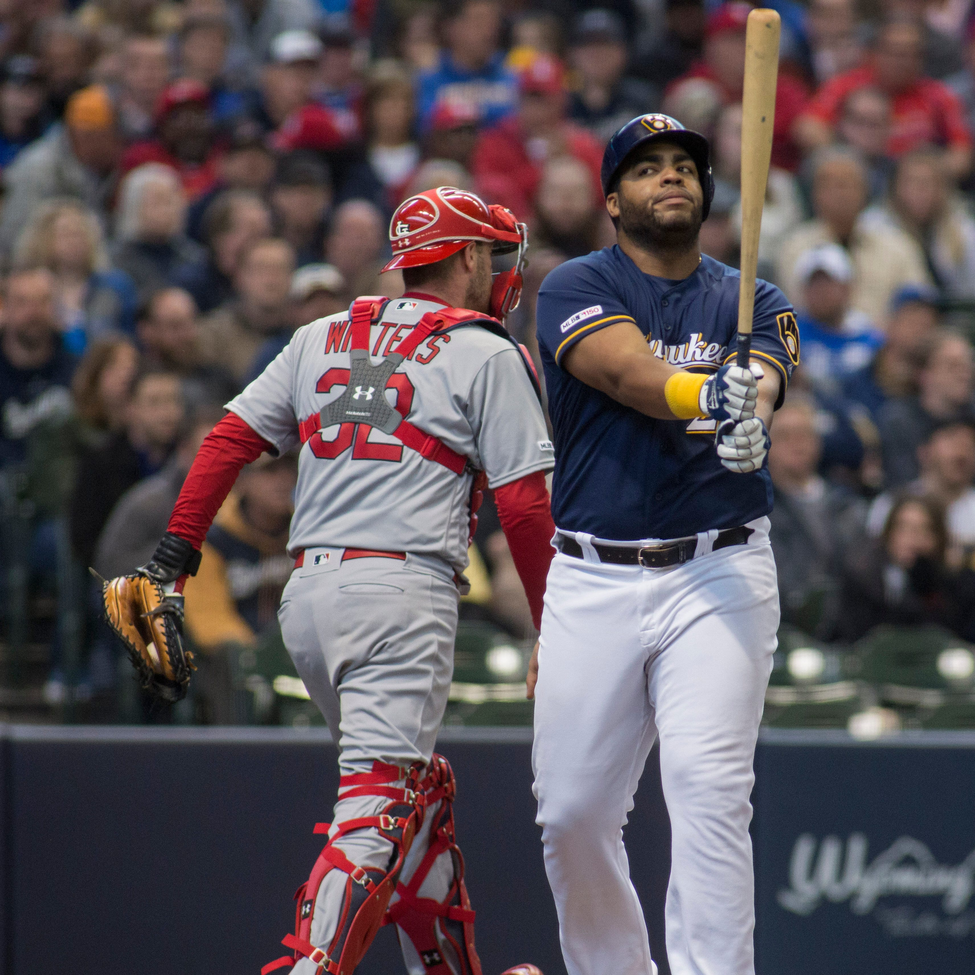 As Jesús Aguilar looks for first home run, Brewers seek to get middle of batting order going