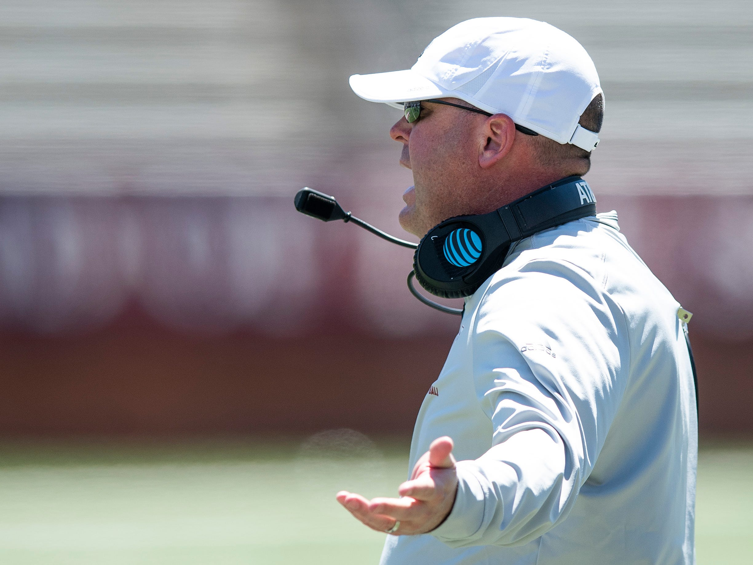 Troy head coach Chip Lindsey during the Troy University T-Day spring scrimmage game in Troy, Ala., on Saturday April 20, 2019.