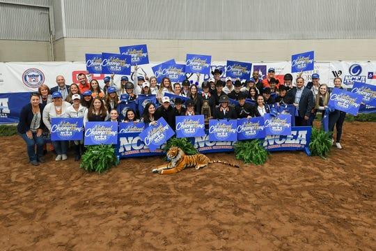 The 2019 national champion Auburn equestrian team.