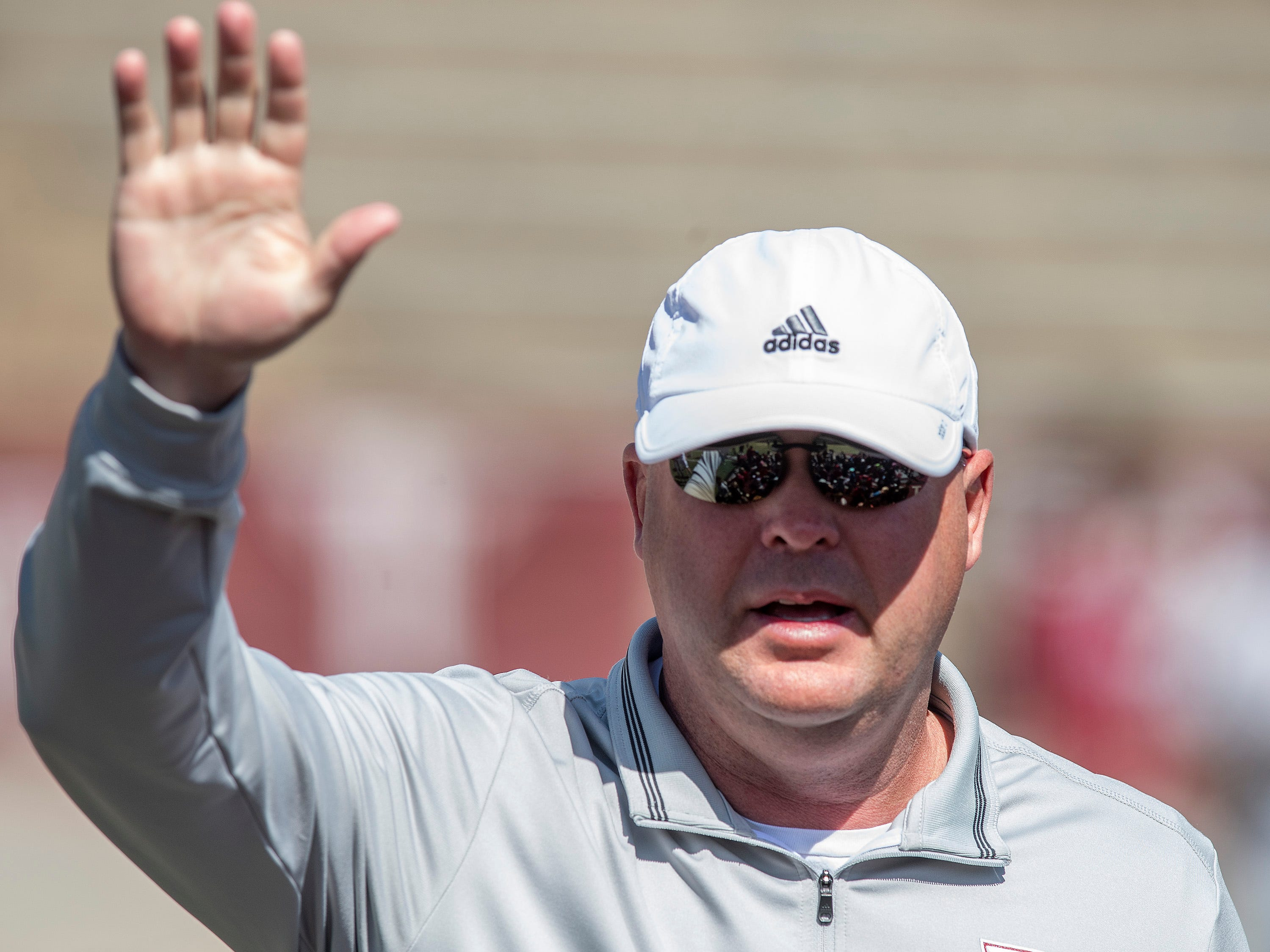 Troy head coach Chip Lindsey before the Troy University T-Day spring scrimmage game in Troy, Ala., on Saturday April 20, 2019.