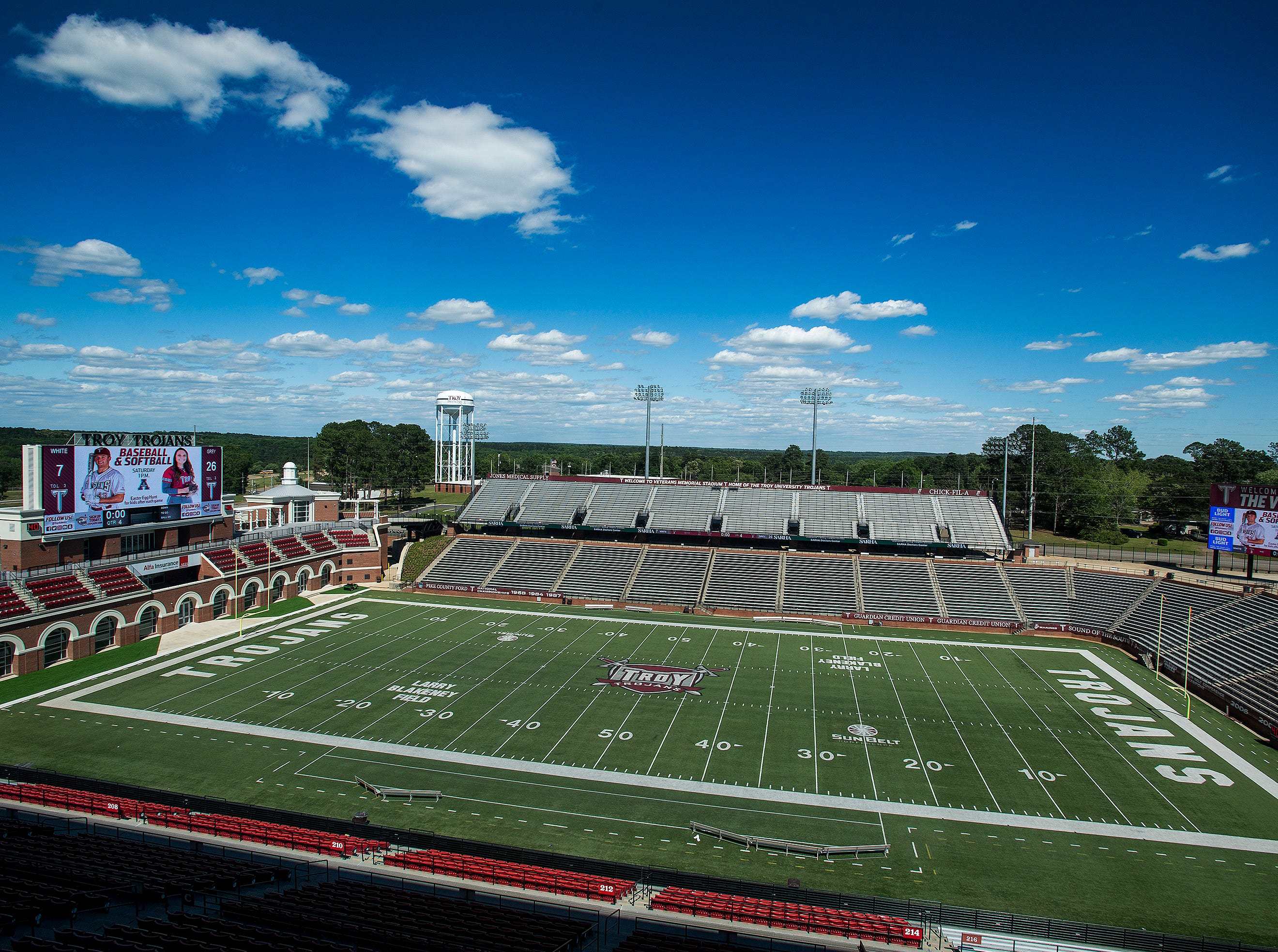 Veterans Stadium at Troy University in Troy, Ala., on Saturday April 20, 2019.