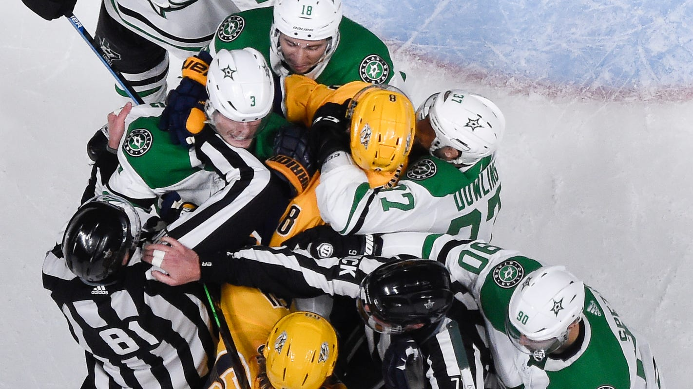 26c8d5ff9c2 Predators face elimination Monday against Stars in the NHL playoffs