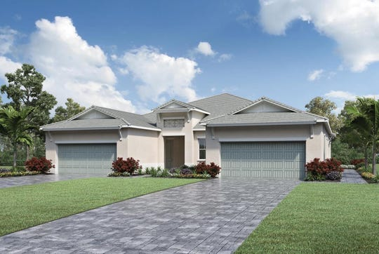 This rendering is representative of the villa homes Toll Brothers will offer at Abaco Pointe, a community being built east of Collier Boulevard between Immokalee Road and Vanderbilt Beach Road.