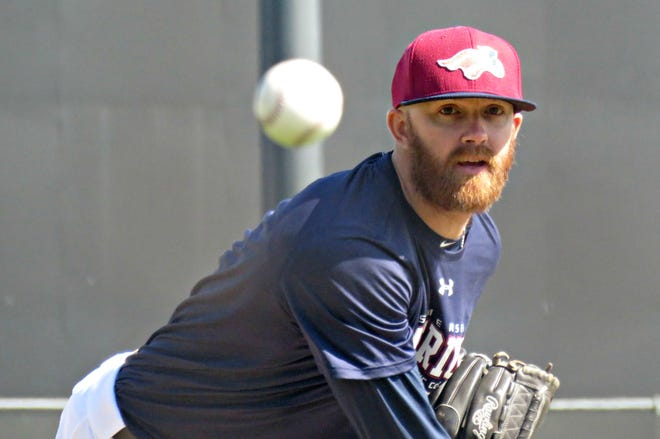 Tyler Cloyd during Somerset Patriots camp heading into the 2019 season.