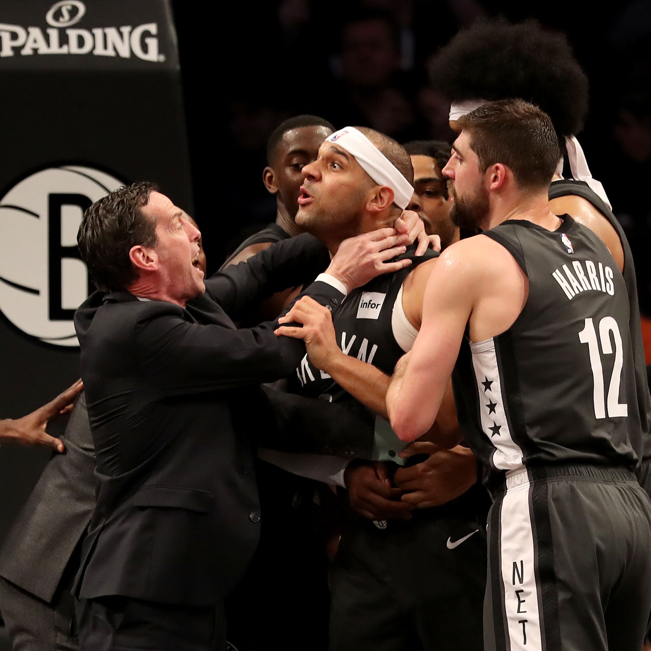 Brooklyn Nets play with urgency but Philadelphia 76ers win fight in end