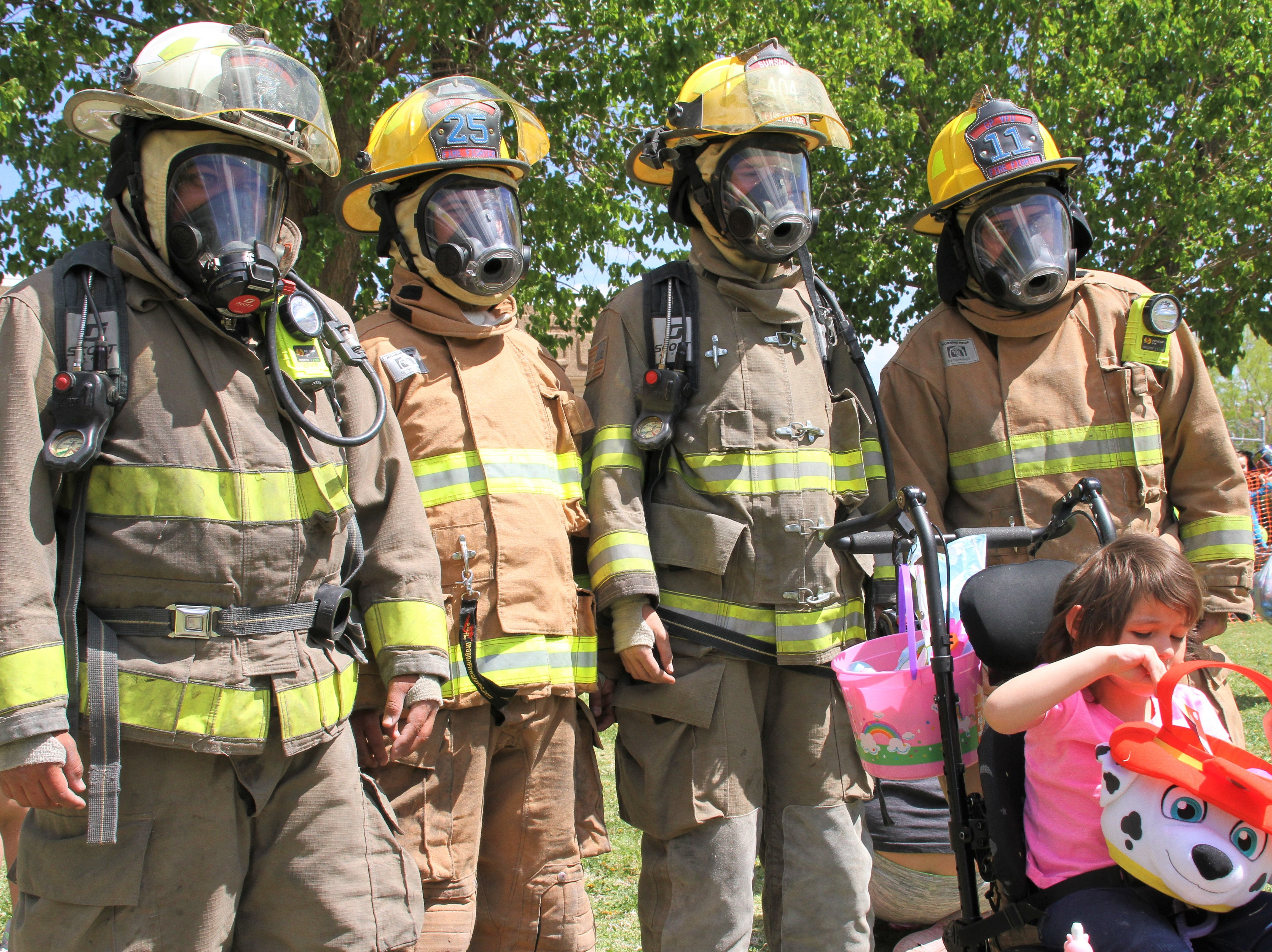 Deming Fire assisted children with exceptionalities. Here they are with Audi.