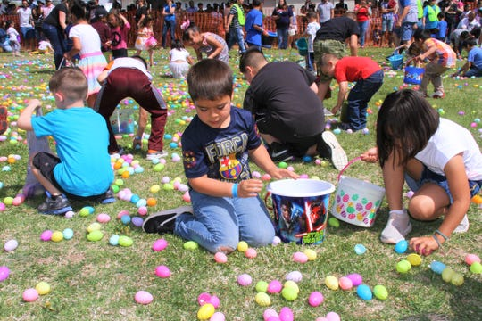 Deming First Assembly of God brought the community together for an annual Easter Egg Hunt Saturday.