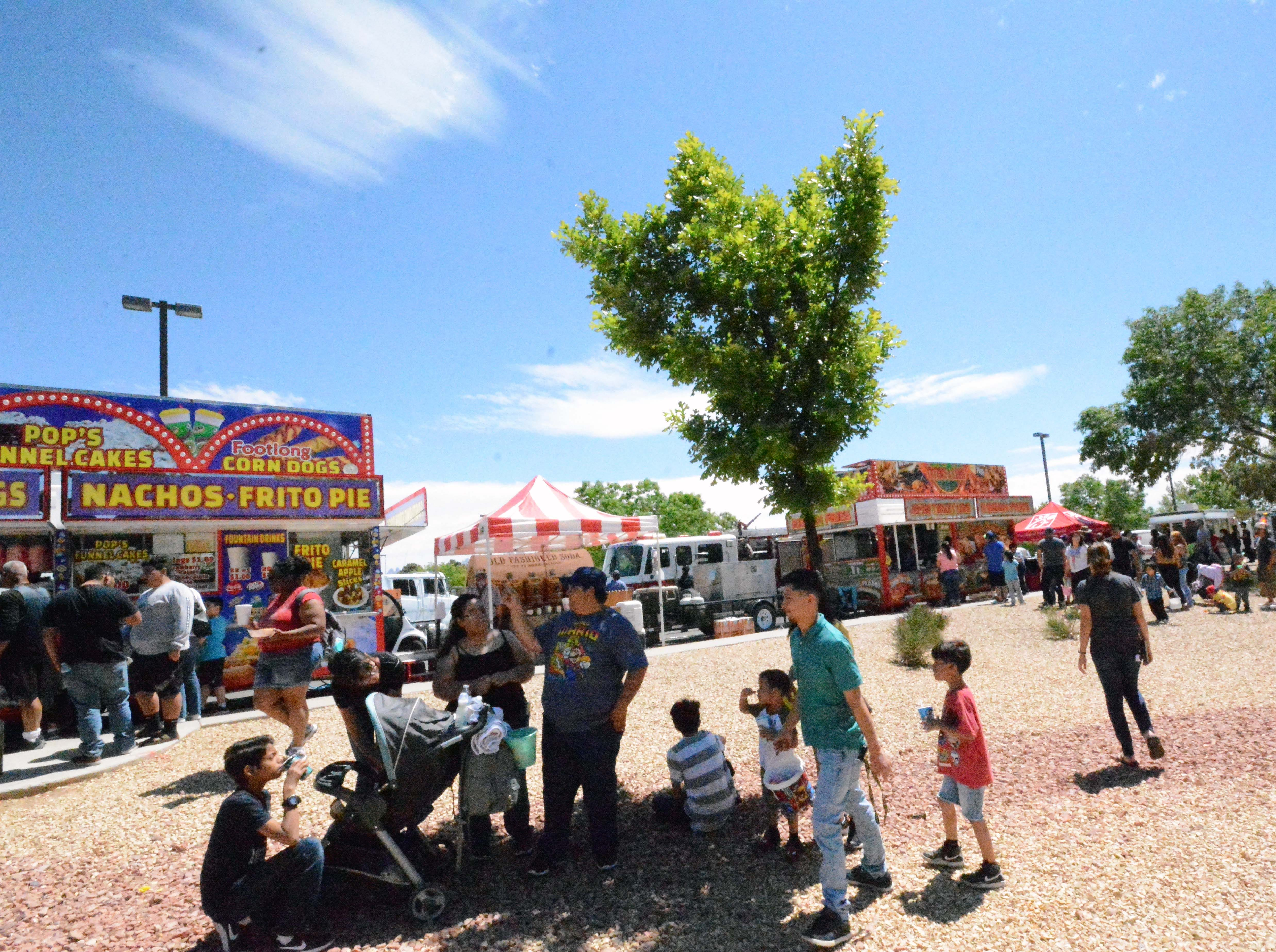 Food trucks offered plenty of meals and snacks during SpringFest at Young Park on Saturday, April 20, 2019.