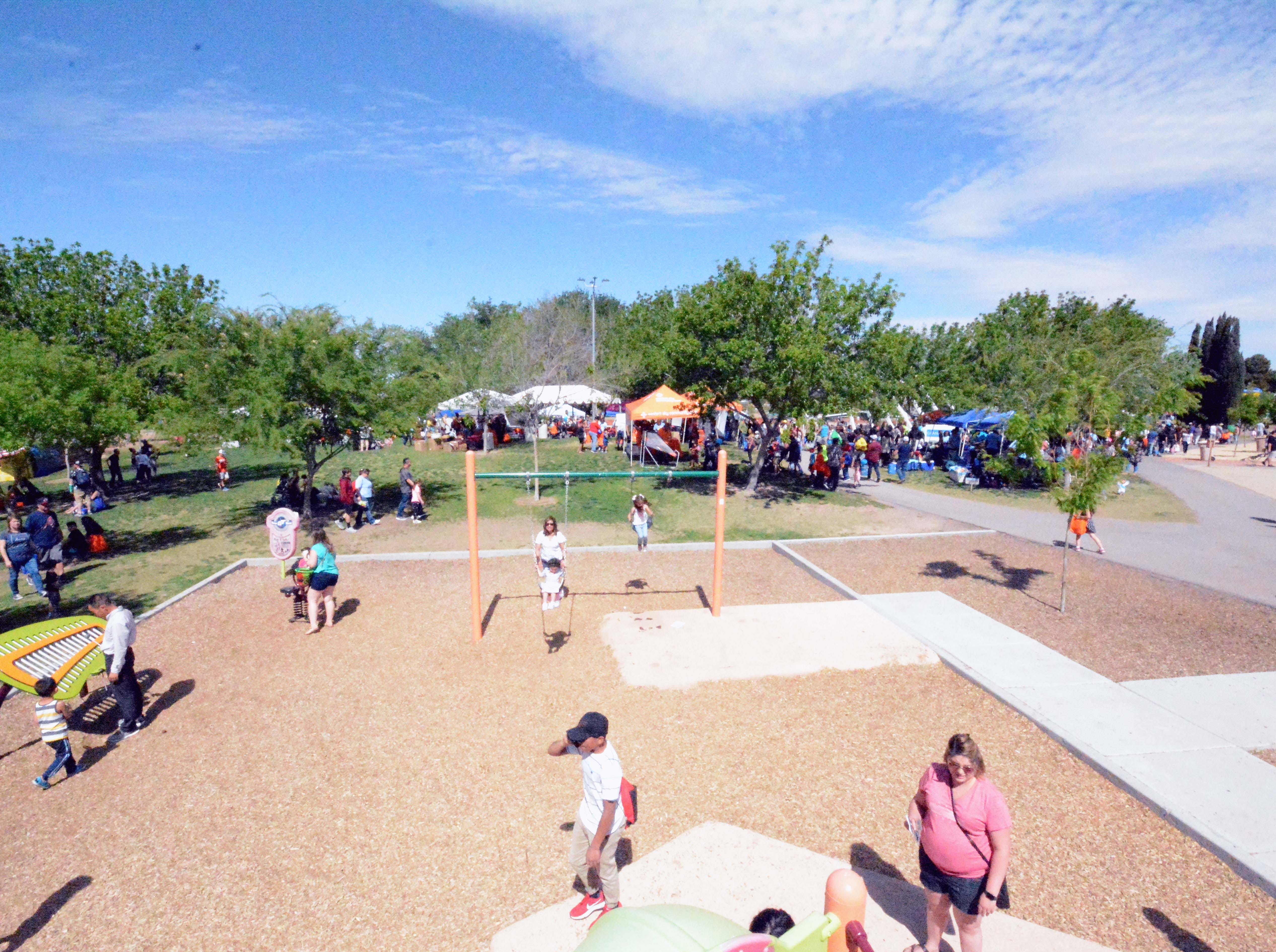 The weather cooperated this year for this year's SpringFest at Young Park on Saturday, April 20, 2019.