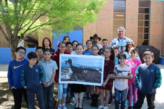 David Uribe's fourth and fifth grade class came up the name Aguacito, which was chosen by the LCU Board in the roadrunner naming contest. You can visit Aguacito at the entrance of the West Mesa Industrial Park, near Love's Truck Stop along I-10, as you enter our city from Deming.