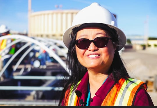 New Mexico State University Environmental Engineering Professor Pei Xu is leading a pilot-scale research project at the Jacob A. Hands Wastewater Treatment Facility in Las Cruces to develop a treatment process for reuse of wastewater.
