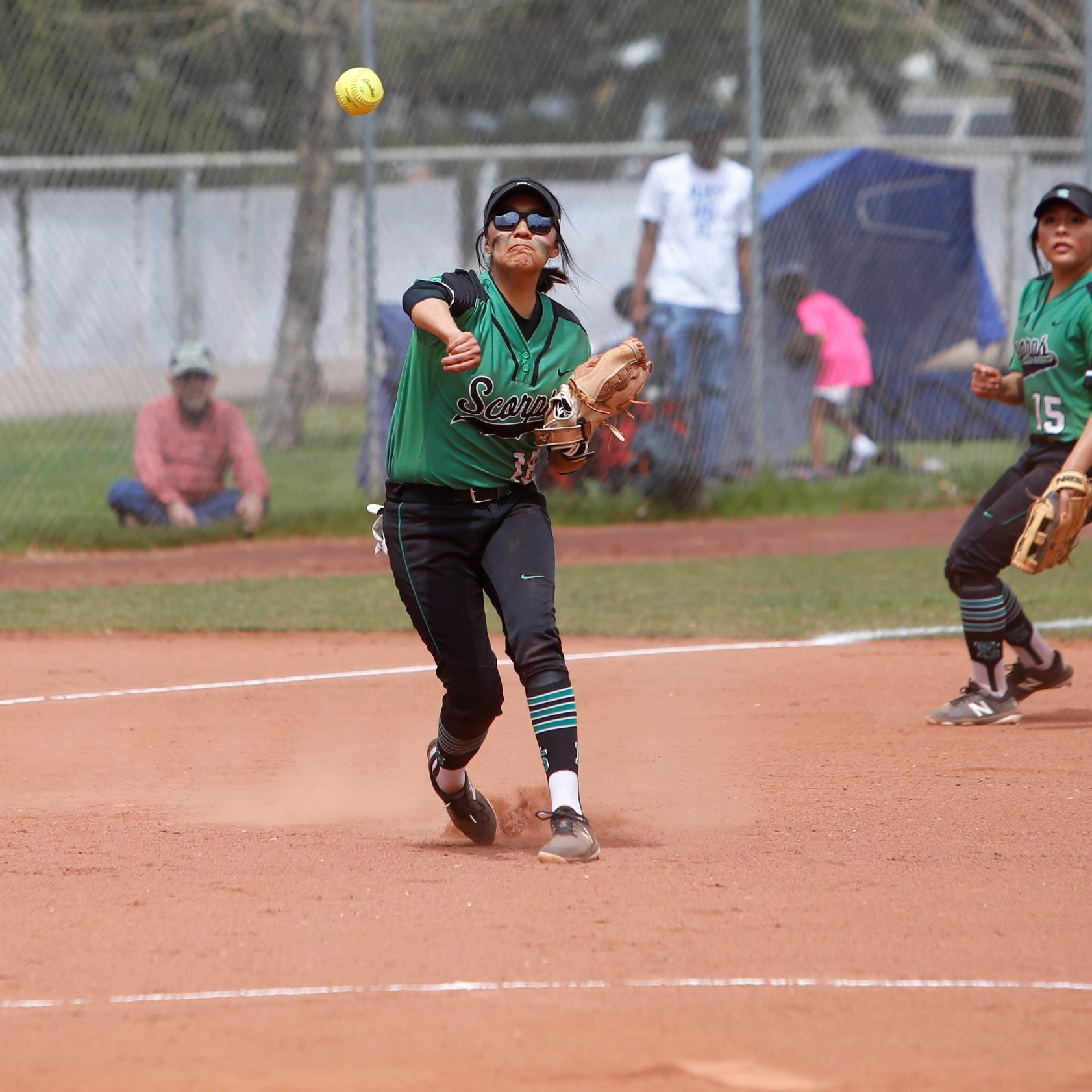 Lady Scorps coast to first district win