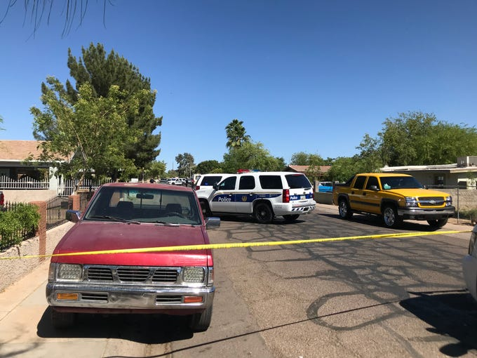 Two children, ages 9 and 10, were on a motorized vehicle when they struck a parked vehicle at 16th and Wier avenues in Phoenix.