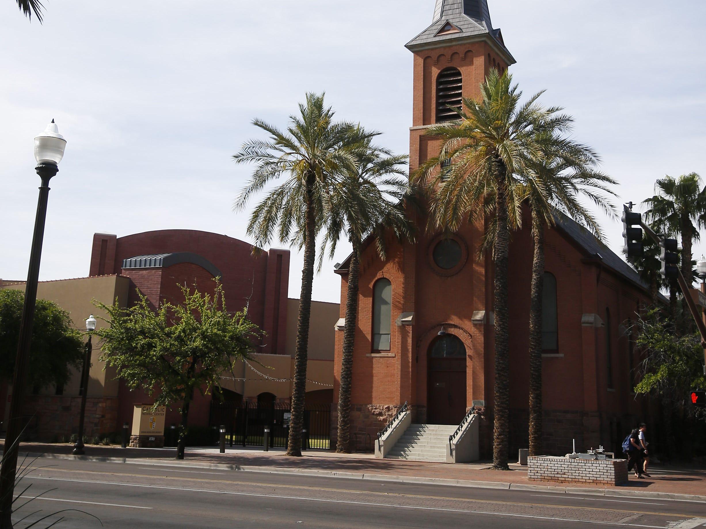 Exterior of the ASU Catholic Newman Center in Tempe, Ariz. April 14, 2019.
