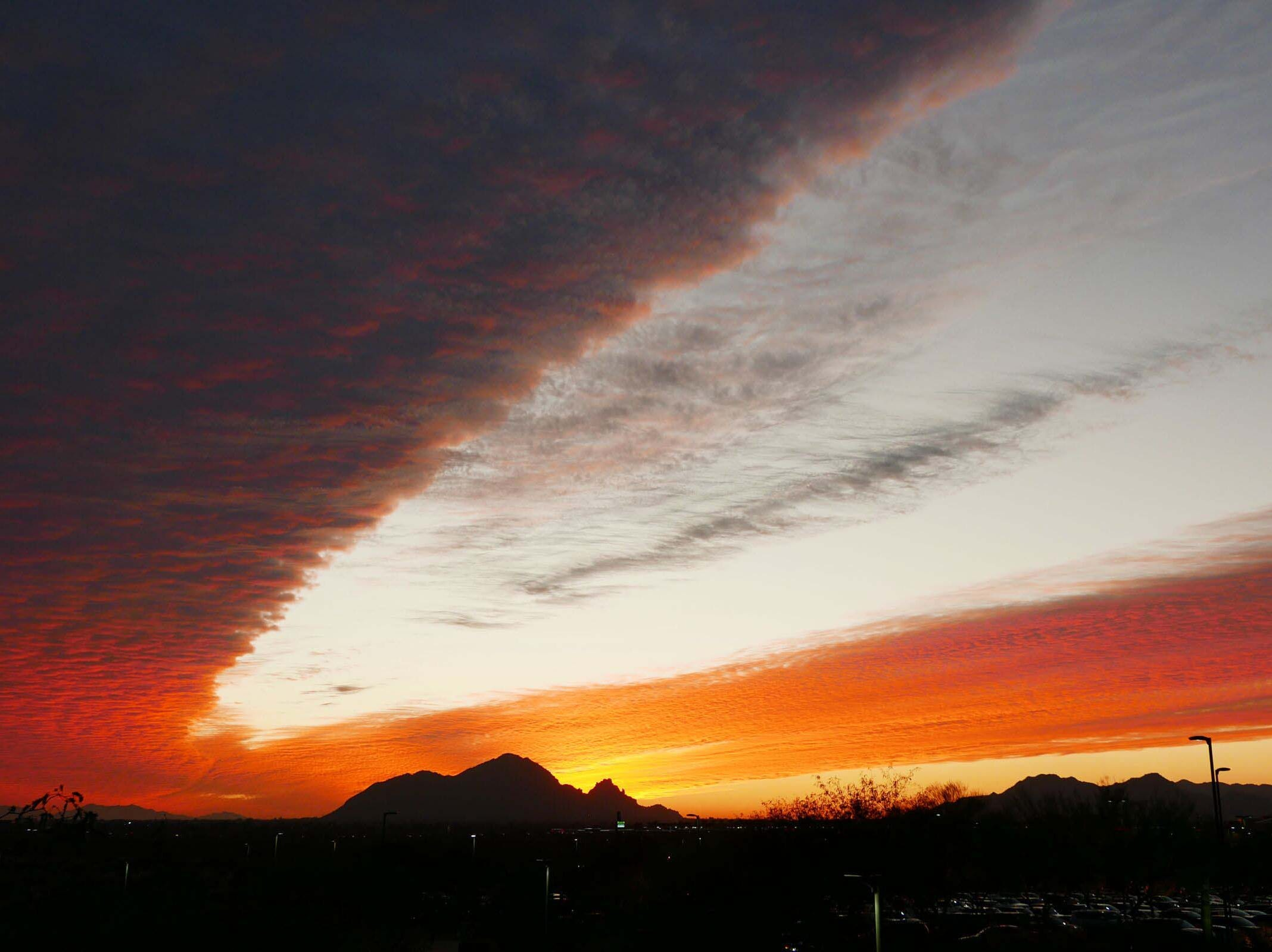 The sunset as seen from Talking Stick Resort.