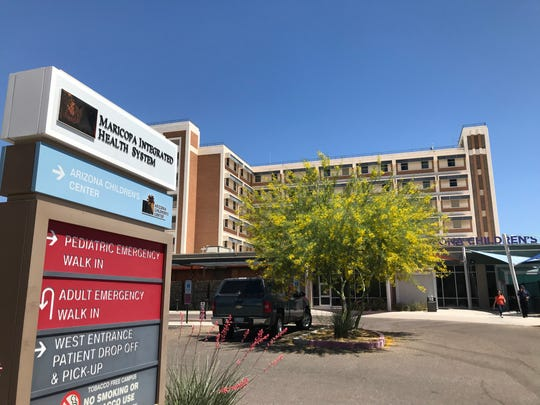 Three firefighters were flown to Maricopa Medical Center's burn unit in Phoenix after a battery explosion at APS.
