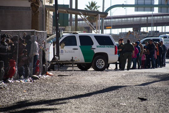 Michael and Ande McCarthy, or the Port Huron area, said volunteers in El Paso, Texas, would process migrant refugees brought in by officials from Immigration and Customs Enforcement and sometimes from Border Patrol, as pictured in this photo taken by a friend.