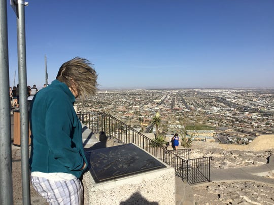 Port Huron area resident Ande McCarthy overlooks El Paso, Texas. She and husband, Michael, recently returned from volunteering to help process migrant refugees at the border.
