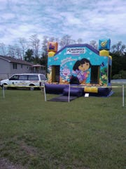 A Dora the Explorer inflatable house was stolen from a Shippensburg property between about 7 p.m. April 18 and 3 p.m. April 19. Police provided this photo of such a house, but did not say if it is the same one.