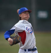 Reno's John Barry pitches against Douglas on March 19.