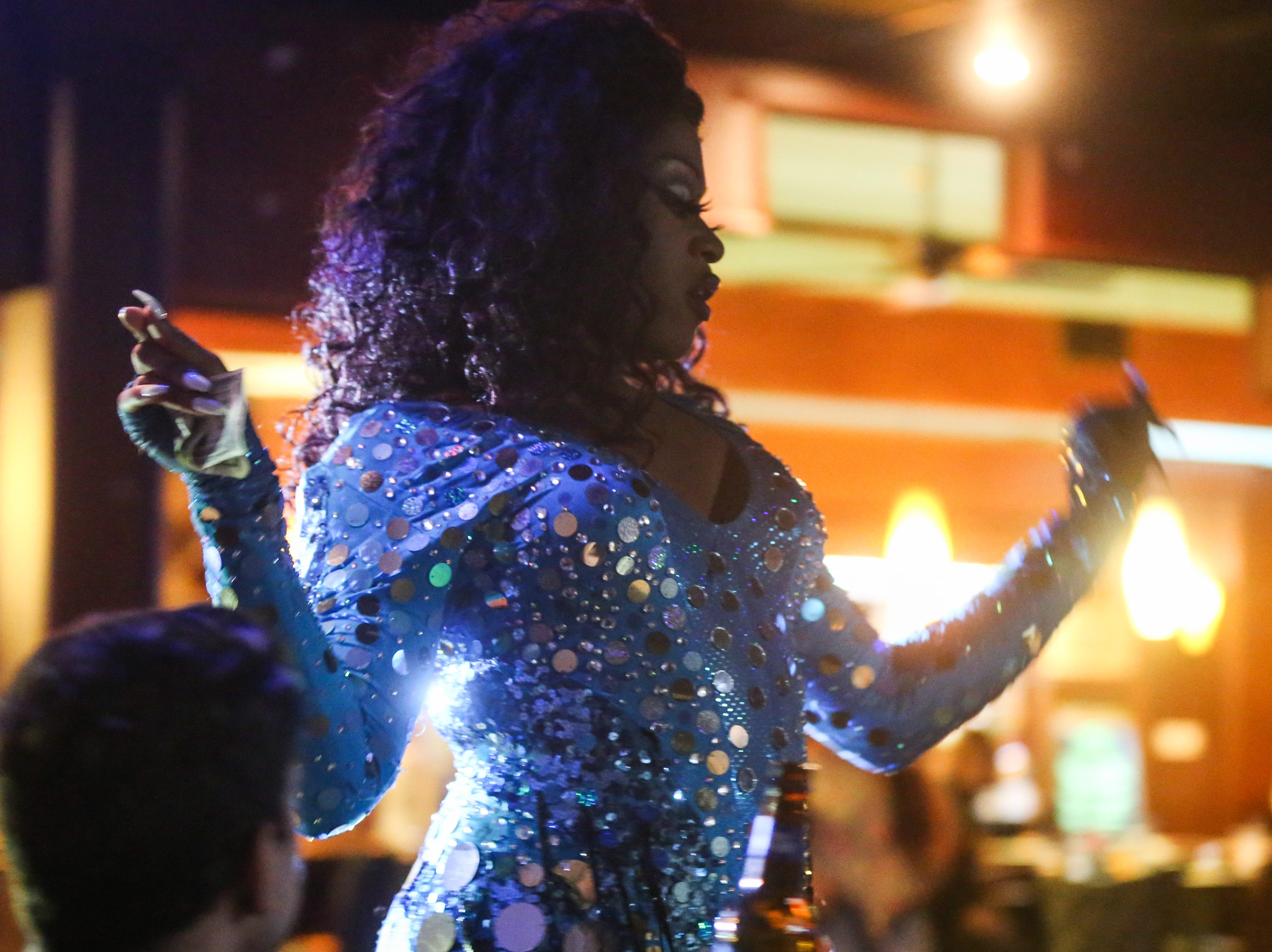 Kennedy Fatale performs during the drag show Friday, April 19, 2019, at the Beauregard.