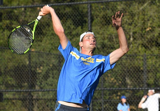 UCLA's Max Cressy, who attended Weil Tennis Academy in Ojai, competes in the Pacific-12 Conference finals at The Ojai last year.