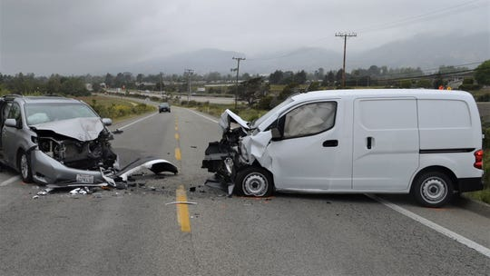This was the scene of a fatal traffic collision that killed an Oxnard woman on Saturday morning in Carpinteria.