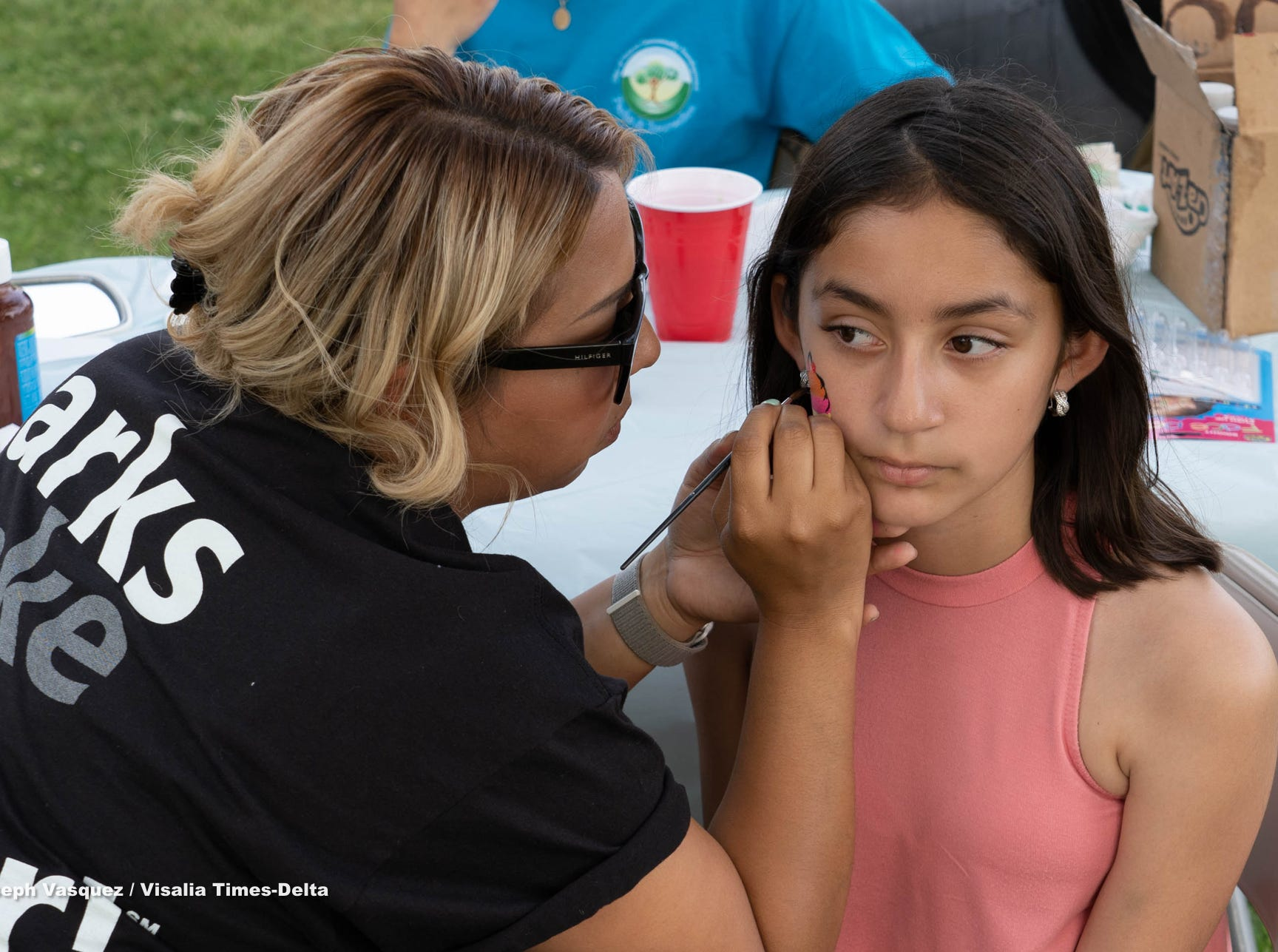 Annual Spring Carnival and Eggstravaganza was held at Zumwalt Park Thursday night with many in attendance enjoying food crafts and bounce houses. Kids of three different age groups also participated in a egg hunt in the park.