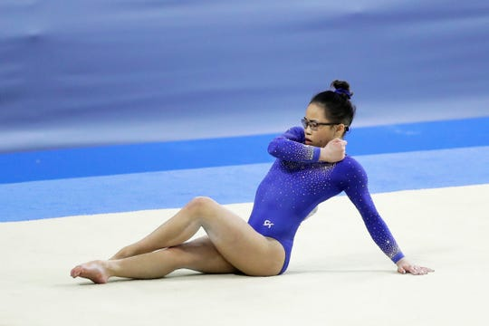 Morgan Hurd of Delaware competes in the Women's Floor Exercises during the FIG Artistic Gymnastics All-Around World Cup Tokyo at Musashino Forest Sport Plaza on April 7, 2019 in Chofu, Tokyo, Japan.