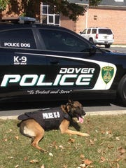 Dover police said K9 officer Gerome helped catch a robbery suspect Friday night.